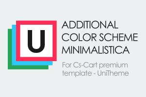 Дополнительные цветосхемы Minimalistica для шаблона UniTheme
