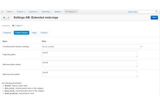 CS-Cart - модуль - автогенерация шаблоны мета тегов бренда